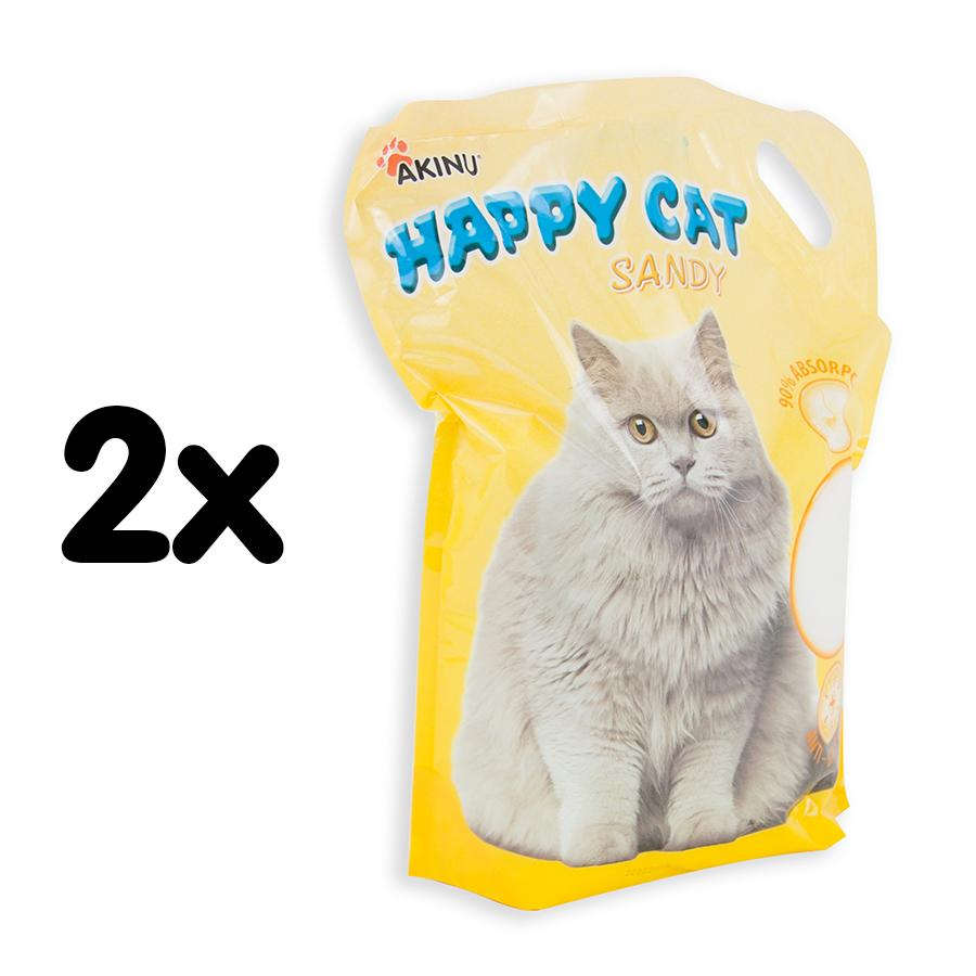 Akinu Happy cat 7,2 l Sandy jemný MULTIPACK 2ks