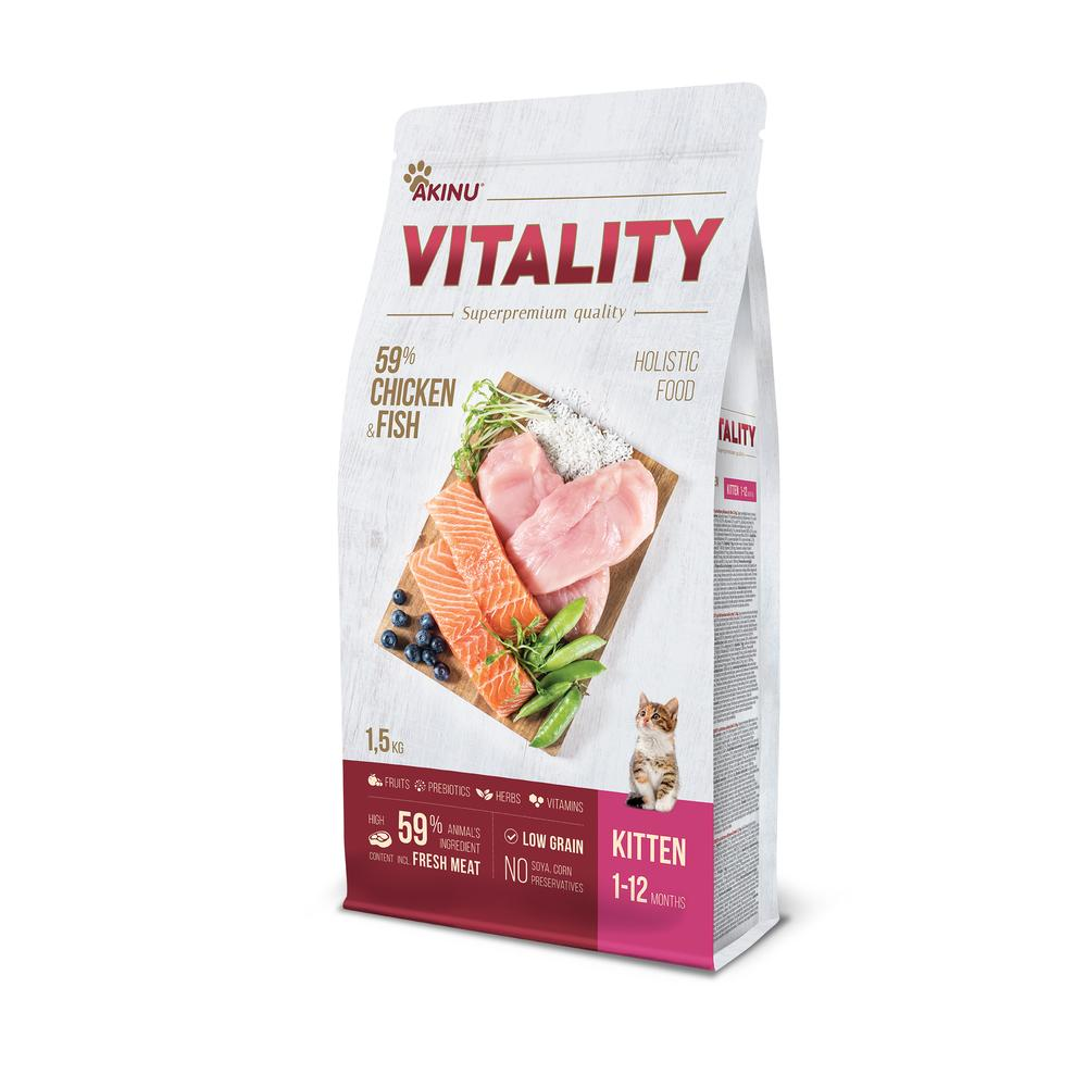 Akinu VITALITY cat kitten chicken & fish 1,5kg