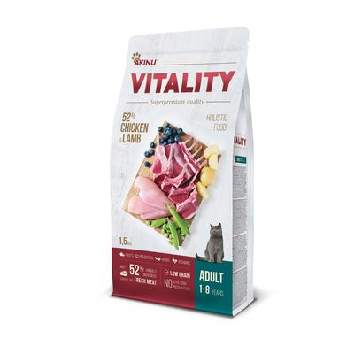 Akinu VITALITY cat adult chicken & lamb 1,5kg