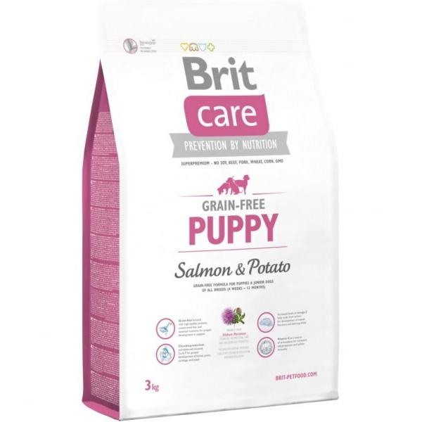 Brit Care Dog Grain-free Puppy Salmon&Potato 3kg