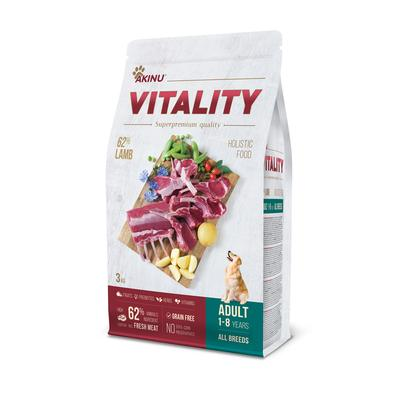 Akinu VITALITY dog adult hypoallergic medium/large lamb 3kg