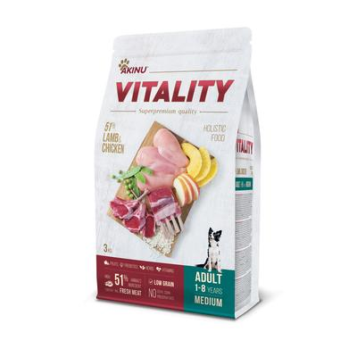 Akinu VITALITY dog adult medium lamb & chicken 3kg