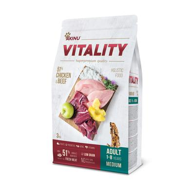 Akinu VITALITY dog adult medium chicken & beef 3kg