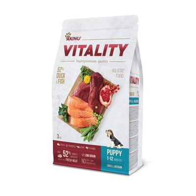 Akinu VITALITY dog puppy small/medium duck & fish 3kg