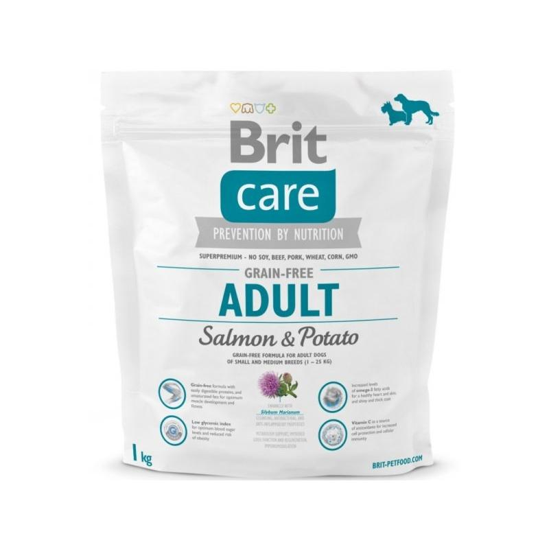Brit Care Dog Grain-free Adult Salmon&Potato 1kg