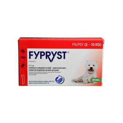 Fypryst Spot-on Dog S (2-10kg) 1x0,67ml