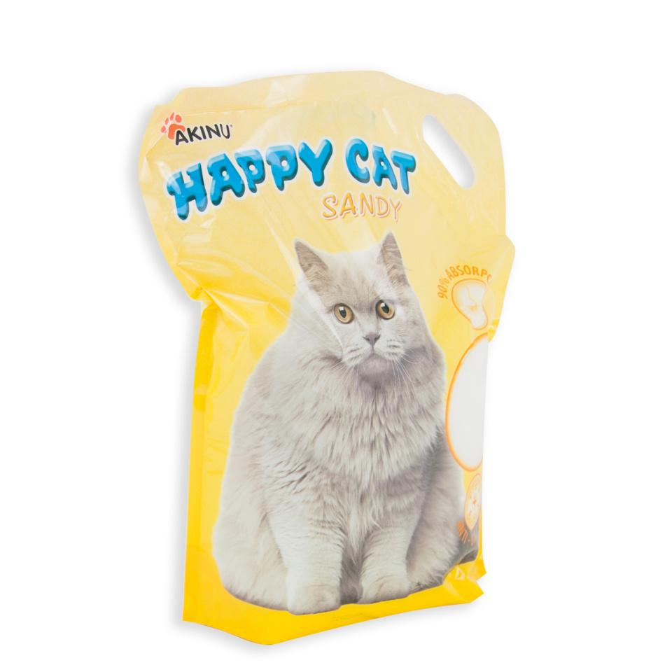 Akinu Happy cat 7,2 l sandy jemný
