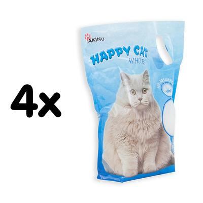 Akinu Happy cat 3,6l White MULTIPACK 4ks