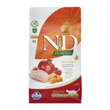 N&D GF Pumpkin CAT NEUTERED Quail & Pomegranate 1,5kg